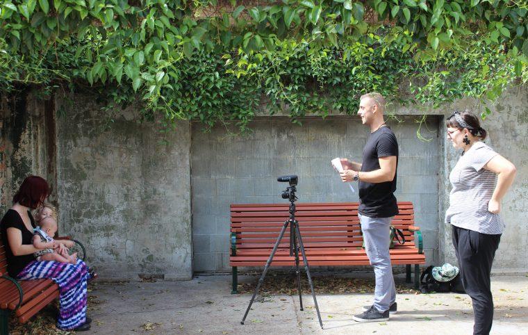 Ben Ashmole our videographer shooting the BYS video