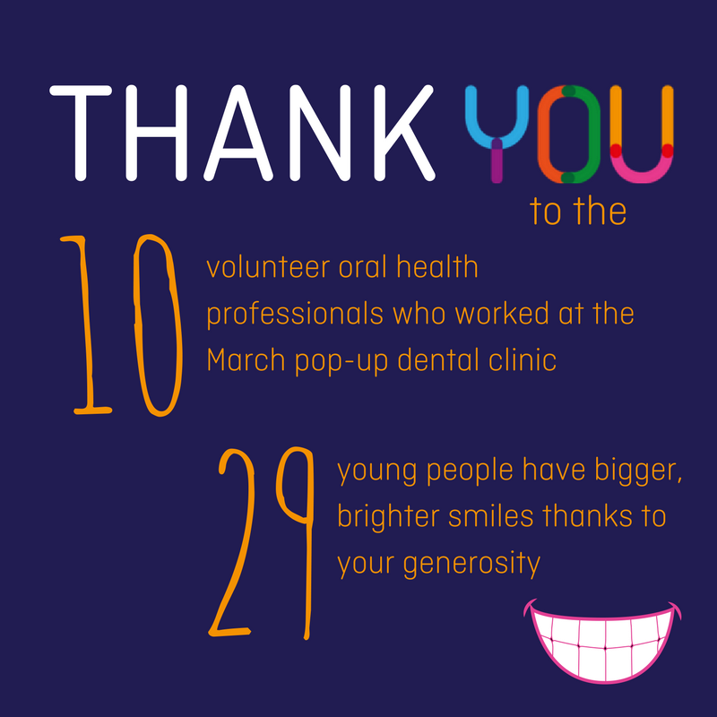 Pop Up Clinics : Pop up dental clinic march brisbane youth service