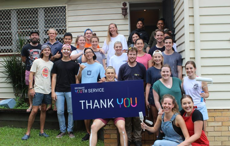 Brisbane Youth Service Phoenix House Painting Volunteers