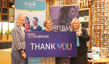 CUA presents Brisbane Youth Service with cheque for education program