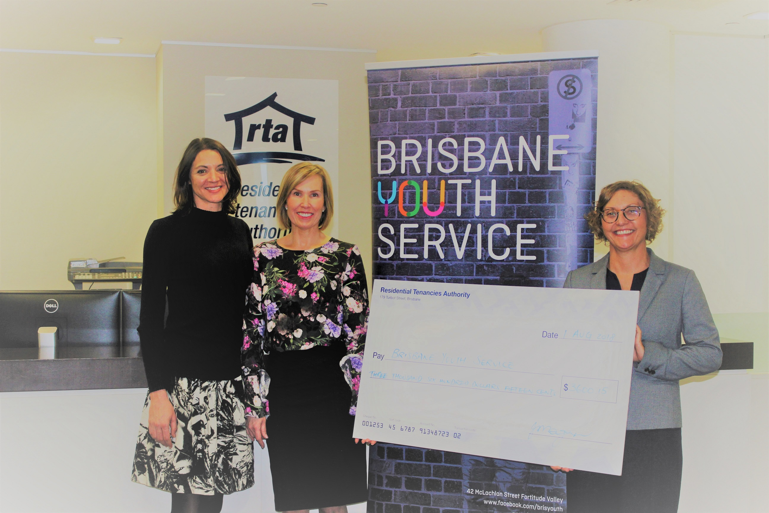 Residential-Tenancies-Authority-Brisbane-Youth-Service-cheque-presentation