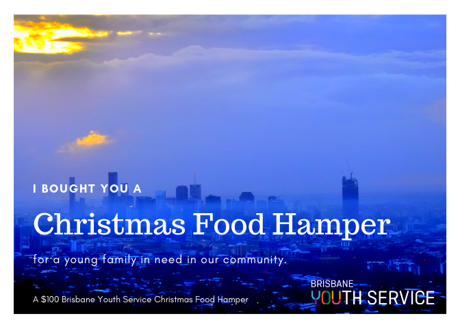 Brisbane Youth Service Christmas Hamper Gift Card Family