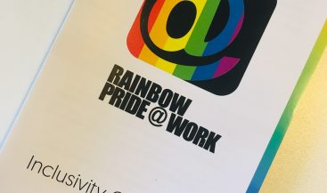 Rainbow pride at work