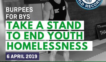 Burpees for BYS Social Tile 2 Take A Stand To End Youth Homelessness